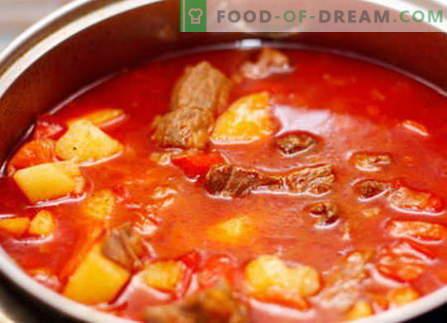 goulash di maiale - le migliori ricette. Come cucinare correttamente e gustoso goulash di maiale.