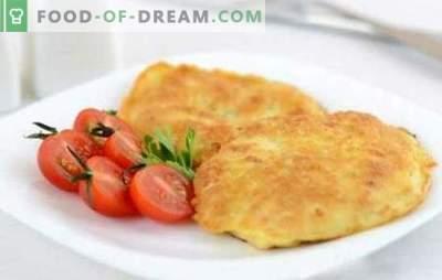 Le costolette di pollo in pastella sono croccanti! Ricette teneri braciole di pollo in pastella su birra, con formaggio e noci