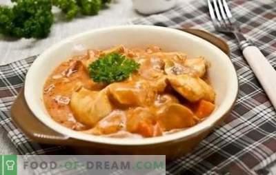 Ricette passo-passo per il gulasch di pollo con sugo di carne. Idee gustose e semplici per una cena in famiglia: spezzatino di pollo con sugo nelle ricette passo-passo