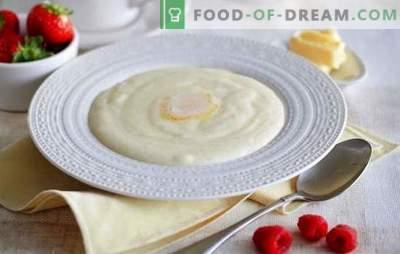 Porridge di semola su latte - buongiorno! Come cucinare la semola nel latte, in modo che il porridge risultasse gustoso e senza grumi