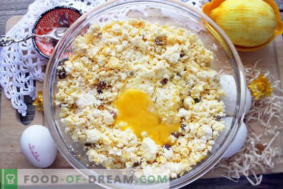 cheesecake originali con curcuma e uvetta