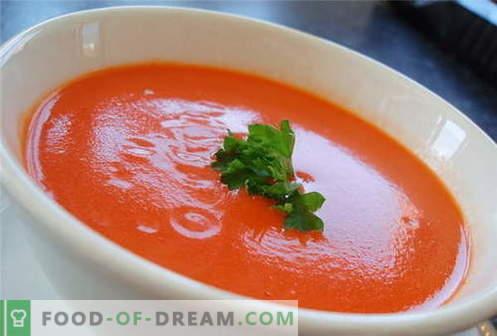 Zuppa di pomodoro - le migliori ricette. Come cucinare correttamente e cuocere la zuppa di pomodoro.