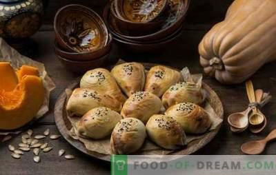 Samsa con una zucca - triangoli succosi! Ricette di uzbeko e semplice samsa con zucca di diversi tipi di pasta