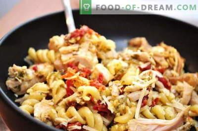 Pasta di pollo - le migliori ricette. Come cucinare correttamente e gustoso pollo con la pasta in un fornello lento.