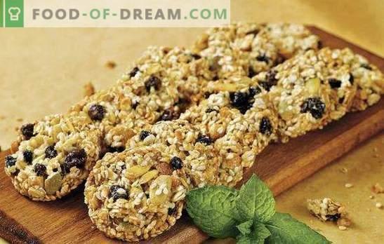 Biscotti di farina d'avena senza zucchero - bontà utile. Segreti di fare biscotti di farina d'avena senza zucchero con frutta secca, miele