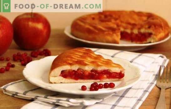 Torte di mele e mirtilli rossi - aggiungi una varietà dolce! Lievito, pasta sfoglia e pasta frolla per una torta con mele e mirtilli rossi