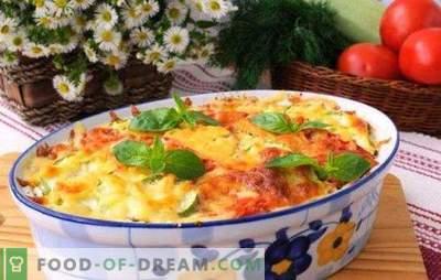Braadpan met kaas en gehakt - avondeten voor een half uur. Recepten stoofschotels met kaas en gehakt vlees: aardappel, groenten, pasta