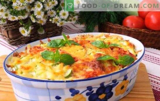 Casseruola con formaggio e carne macinata - cena per mezz'ora. Ricette casseruole con formaggio e carne macinata: patate, verdure, pasta