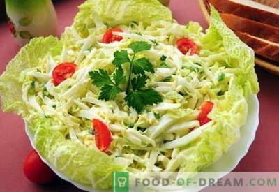 Insalata di cavolo cinese - le migliori ricette. Come correttamente e gustosa insalata di cavolo cinese cotta.