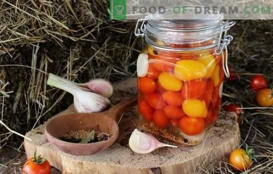 Pomodorini per l'inverno - un po 'di gioia acuta! Ricette preparazioni ineguagliate con pomodorini per l'inverno