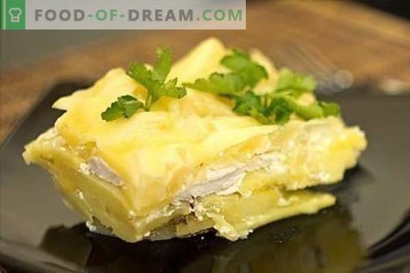Petto di pollo con patate non è facile, ma molto semplice! Stufati, casseruole, involtini, zrazy e altre ricette di petto di pollo e patate