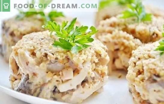 Kalmaari salat: samm-sammult retsept piduliku või lihtsa suupiste jaoks. Samm-sammult retseptid kalmaari salatitega: toiduvalmistamine, nautimine