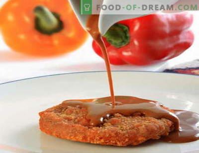Salsa rossa - le migliori ricette. Come cucinare correttamente e cucinare la salsa rossa.