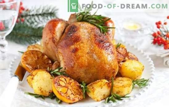 Turquia e Batata: Um prato versátil para uma mesa festiva e jantar em família. Maneiras de cozinhar peru com batatas