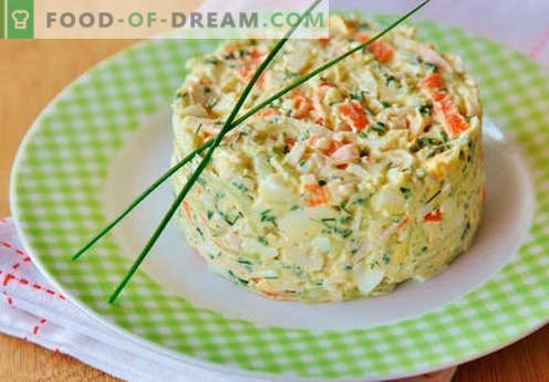 Insalata di granchio con cetriolo - ricette di cucina provate. Come cucinare un'insalata di granchio con cetriolo.