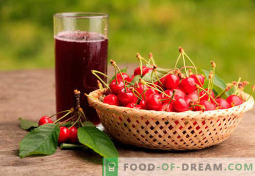 Composta di ciliegie - le migliori ricette. Come una composta appropriata e gustosa fatta di ciliegie.