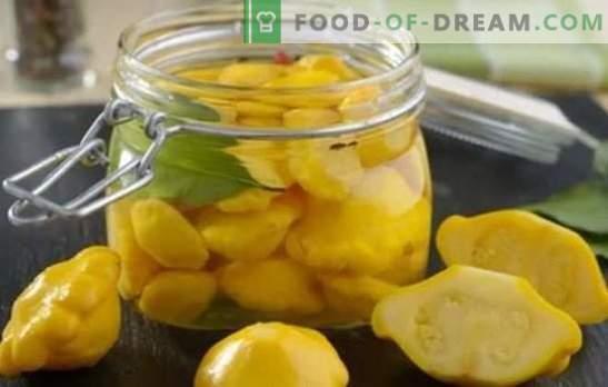Zucca: ricette veloci e gustose per l'inverno. Le migliori ricette rapide per gustosi patissons per l'inverno