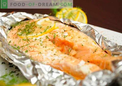 Salmone al cartoccio - le migliori ricette. Come cucinare correttamente e gustoso salmone in carta stagnola.