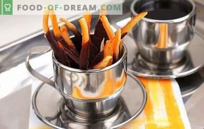 Cukruoti apelsinai yra naudingas saldumas suaugusiems ir vaikams. Džiovintų apelsinų receptai ir kepimas su jais