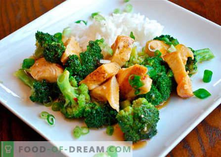 pollo con broccoli - le migliori ricette. Come cucinare correttamente e gustoso pollo con i broccoli.