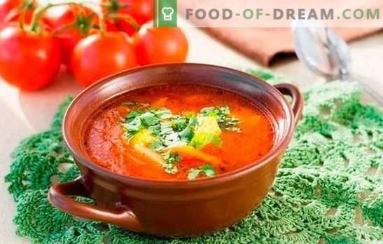 Zuppa di Kharcho: cucinata secondo semplici ricette. Sottigliezze e segreti della cottura della zuppa kharcho: ricette semplici con carne di manzo, agnello, pollo