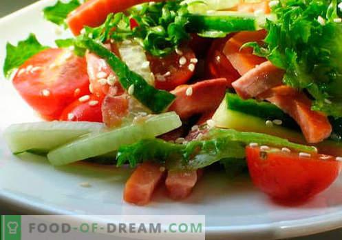 Insalate con olio vegetale - le cinque migliori ricette. Come preparare correttamente e deliziosamente insalate con olio vegetale.