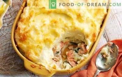 Pesce in casseruola al forno - un capolavoro di prodotti semplici! Varianti di casseruole di pesce al forno con riso, patate, cavoli, mix di verdure