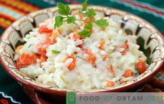 Riso con carote - sempre amichevole! Dolce e piccante, fritto, bollito e cotto - piatti di riso con carote: le migliori ricette