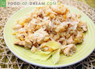 Kana risotto - parimad retseptid. Kuidas õigesti ja maitsev kokk risotto kana.