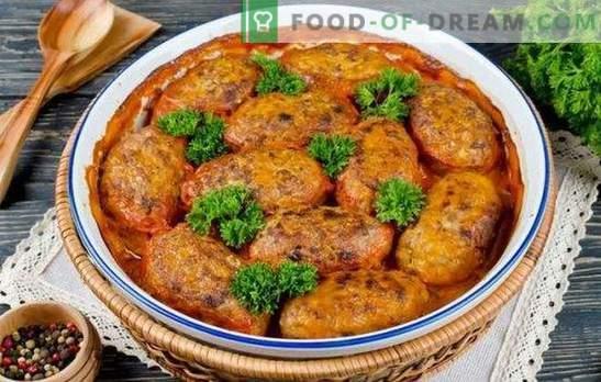 Rollos de repollo perezosos en el horno: ¡no hay lugar para ser más fácil! Recetas para rollos de repollo en el horno con crema agria de tomate, queso de diferentes tipos de carne y aves de corral