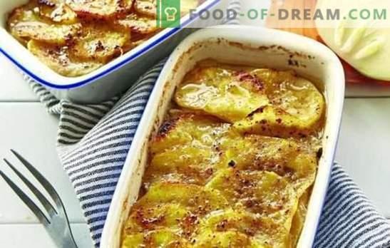 Carne macinata in forno con patate (ricetta passo-passo): molte opzioni. Ripieno al forno con patate (passo dopo passo): nella forma e nelle pentole