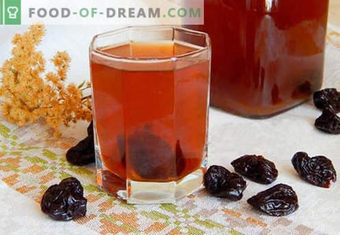 Compote van pruimen - de beste recepten. Hoe maak je een compote van gedroogde pruimen op de juiste en heerlijke wijze klaar.