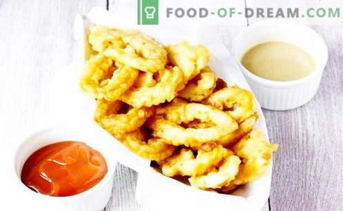 I calamari in pastella sono le migliori ricette. Come cucinare in modo adeguato e gustoso i calamari in pastella.
