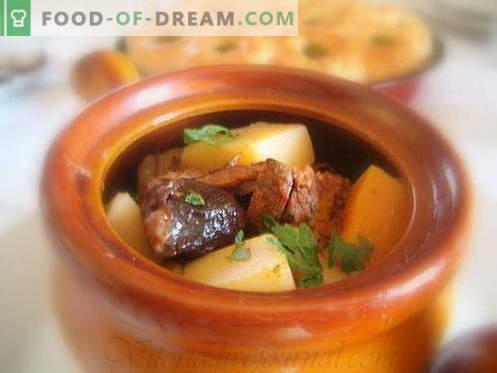Le patate con carne sono le migliori ricette. Come cucinare correttamente e gustoso patate con carne in vaso.