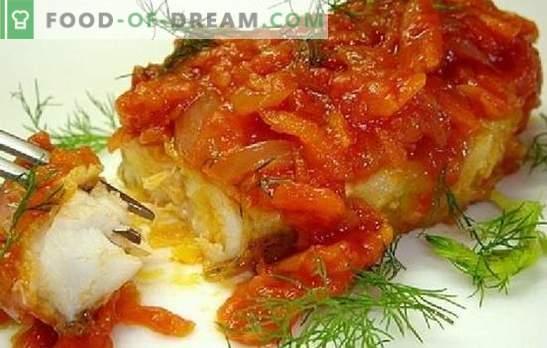 Pesce con pomodori: sotto