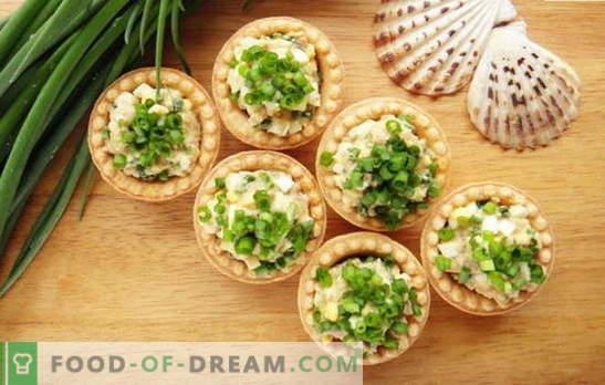 Snack dal fegato di merluzzo: palline, insalate, panini. Le migliori ricette per merendine al fegato di merluzzo: con riso, pomodori, formaggio, mais