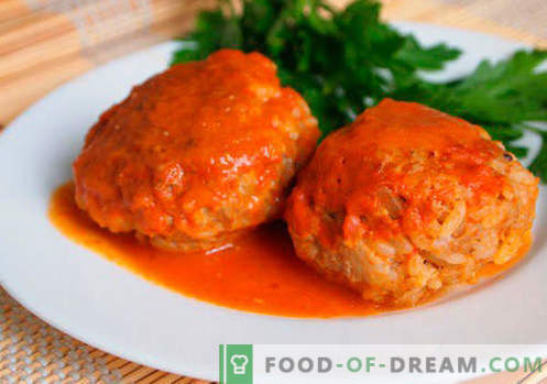 Polpette con riso - ricette collaudate. Come cucinare correttamente e gustose polpette di carne con riso.