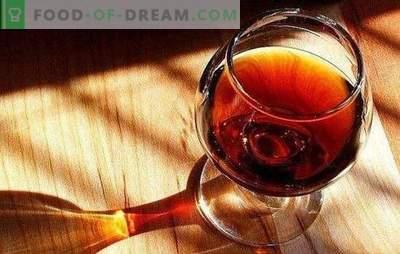 Il cognac fatto in casa con le prugne è una bevanda d'élite. Varianti di brandy fatto in casa da prugne con spezie, miele, su corteccia di quercia