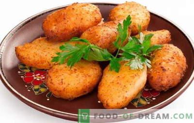 Costolette di Pozarski: un piatto reale! Ricette per le costolette dei vigili del fuoco: classiche, con pane grattugiato, funghi, formaggio, carne di maiale e vitello
