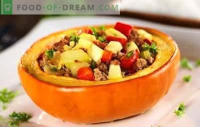 Zucca ripiena di carne, cotta al forno - stupenda! Come cucinare una zucca ripiena di carne e cotta nel forno
