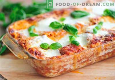 Lasagna con carne macinata - le ricette giuste. Come preparare velocemente e gustose le lasagne con carne macinata.