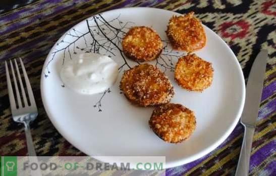 I pomodori verdi fritti sono uno spuntino insolito a base di prodotti semplici. Ricette per Gourmet Fried Green Tomatoes