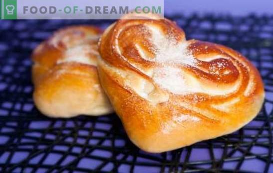 Torte per il cuore: l'aroma e il gusto delle torte fatte in casa. Le migliori ricette di tortine al cuore con zucchero, semi di papavero, cannella e altri