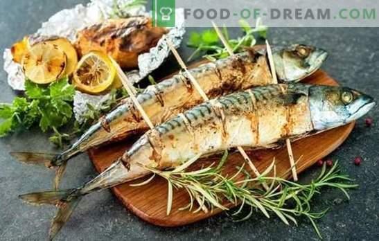 Lo sgombro alla griglia è la migliore ricetta per marinare e servire. Come cucinare lo sgombro sulla griglia con sughi piccanti e piccanti