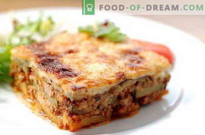 Mousaka con melanzane - le migliori ricette. Come cucinare correttamente e gustoso il moussaka di melanzane.