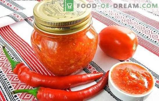 Adjika per l'inverno senza cottura: massimo beneficio e cottura minima. Varie ricette per cucinare adzhika per l'inverno senza bollire