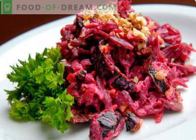 Insalata di barbabietole, noci e prugne - le migliori ricette. Come cucinare correttamente e deliziosamente un'insalata con barbabietole, noci e prugne secche.