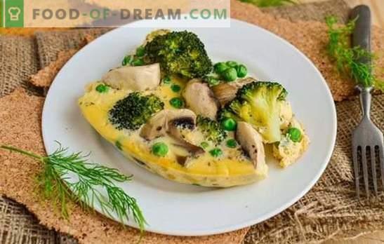 frittata con funghi - cucina russa con accento francese. Varianti di frittata di cottura con funghi