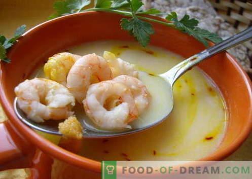 Zuppa di gamberi - le migliori ricette. Come cucinare correttamente e gustoso zuppa con gamberetti.