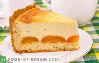 La torta con ricotta e albicocche è un delizioso dessert sano. Ricette per torte di ricotta e albicocche di diversi tipi di pasta